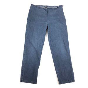 Eileen Fisher jeans slit ankle side zipper large